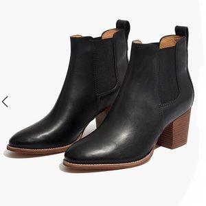 {Madewell} The Regan Boot in True Black Size 7